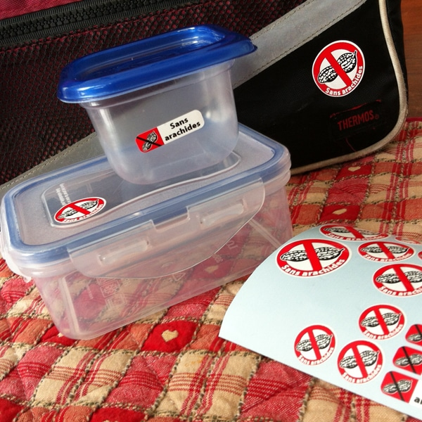 Étiquettes pour allergies autocollantes personnalisées Cestamoi